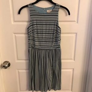 Blue patterned loft dress